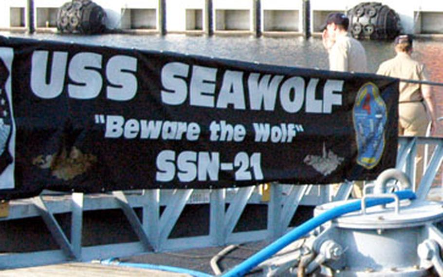 The USS Seawolf submarine visited Yokosuka Naval Base, Japan, this week.