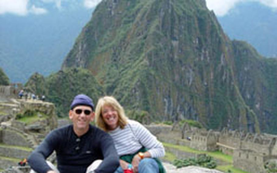 Jeffrey Reppert, a Navy reservist who works with 1st Signal Brigade on Yongsan Garrison, spent 10 days along with his sister, Susan Wooley, in Peru building a church as part of a missionary group.