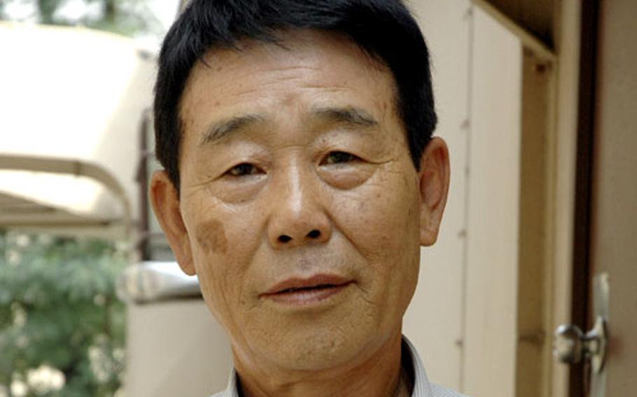 Chung Hwa-kyom, better known as Charlie, has worked at Yongsan Garrison in Seoul for 47 years. At 72, he was forced to retire.