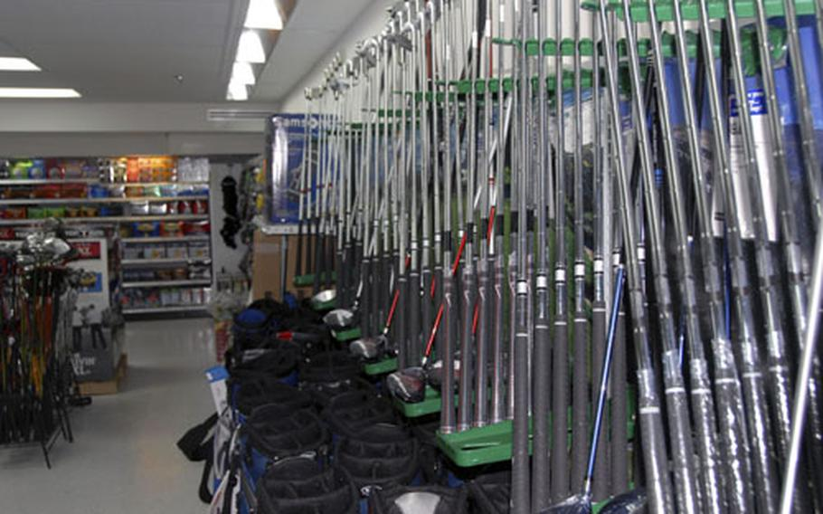 Golf clubs and other sporting items are sold in the store that used to be the Bookmark on Camp Foster. Master Sgt. Donovan Potter, an Army and Air Force Exchange Service spokesman, said there is a wider selection of outdoor goods now but the number of books in the inventory has not been scaled back.