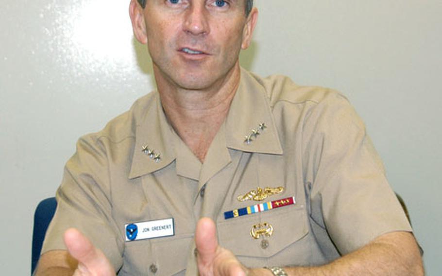 Vice Adm. Jonathan Greenert, the 7th Fleet commander, will be changing command next week aboard the USS Blue Ridge at Yokosuka Naval Base, Japan.