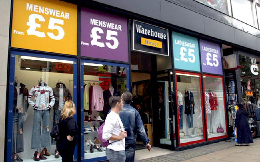 Warehouse Direct is one of the many retail outlets on Oxford Street that cater to the budget shopper but still offer stylish gear.