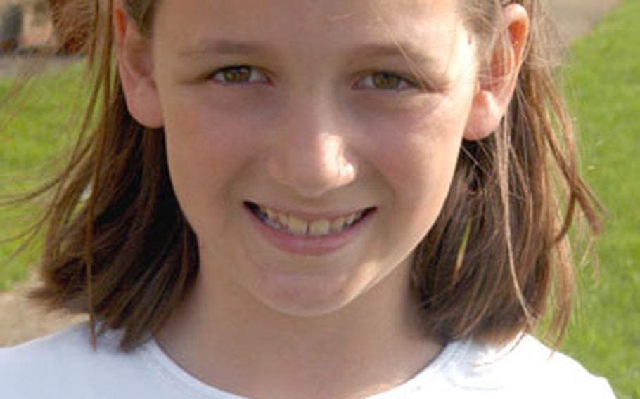 Marina Lindland, 10, won a trip to Disney World.