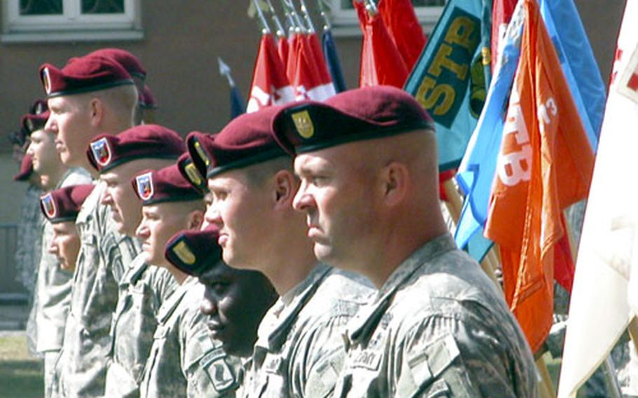 On Friday members of the 173rd Airborne Brigade held a ceremony marking its official transformation to an Airborne Brigade Combat Team.