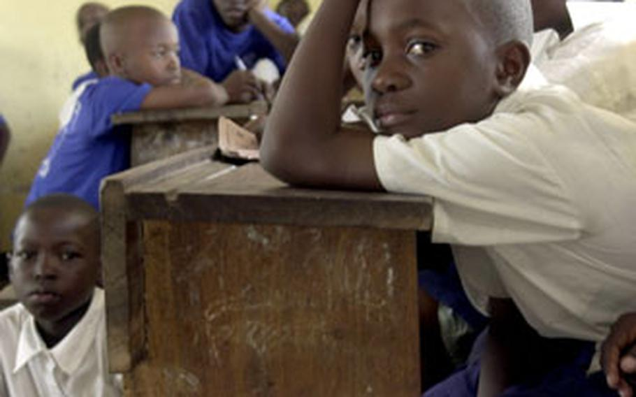 Schoolkids in the Tandale district of Dar es Salaam, Tanzania, are the subject of an ideoligical war between Islamic extremists and U.S. military efforts to counter the conditions that give rise to terrorism.