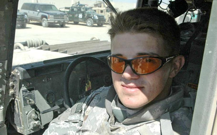 Sgt. Bradley Thuma, 22, of Fayetteville, N.C., said recently that he has enjoyed his deployment in Najaf.