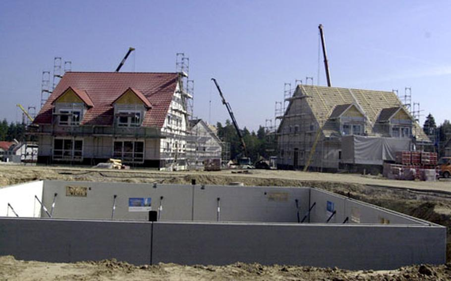 New houses for soldiers and their families are starting to sprout at Netzaberg.