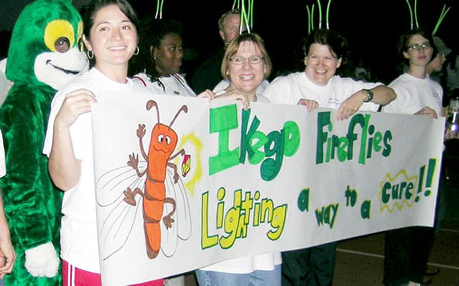 """The """"fireflies"""" from Ikego Elementary School were on their home turf at Ikego Saturday for the Relay for Life."""