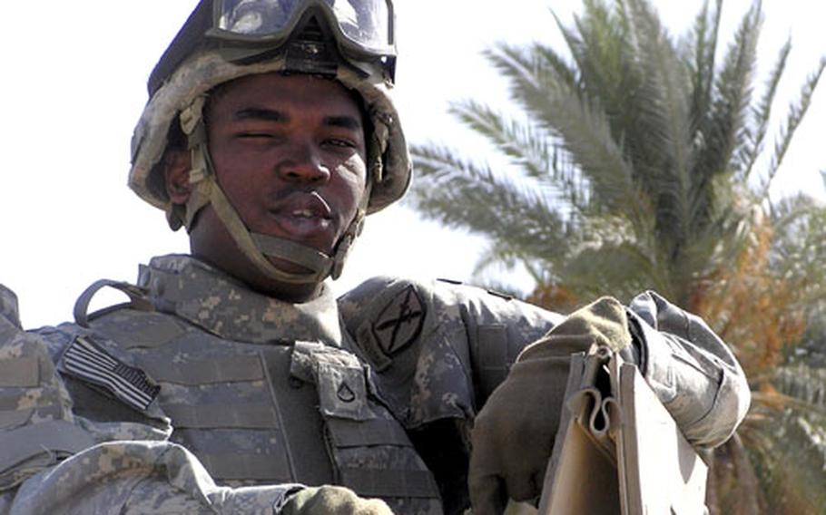 Pfc. Satieon V. Greenlee was killed by a sniper Oct. 2 in the restive area near Mahmudiyah, south of Baghdad.