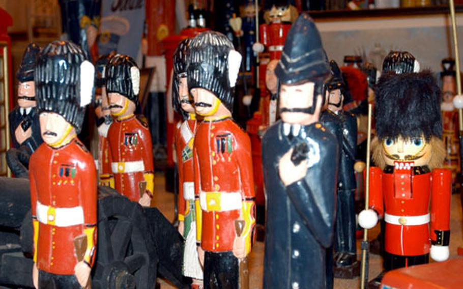 These colonial toy soldiers were among the the dozens of unique goods for sale at the bazaar.
