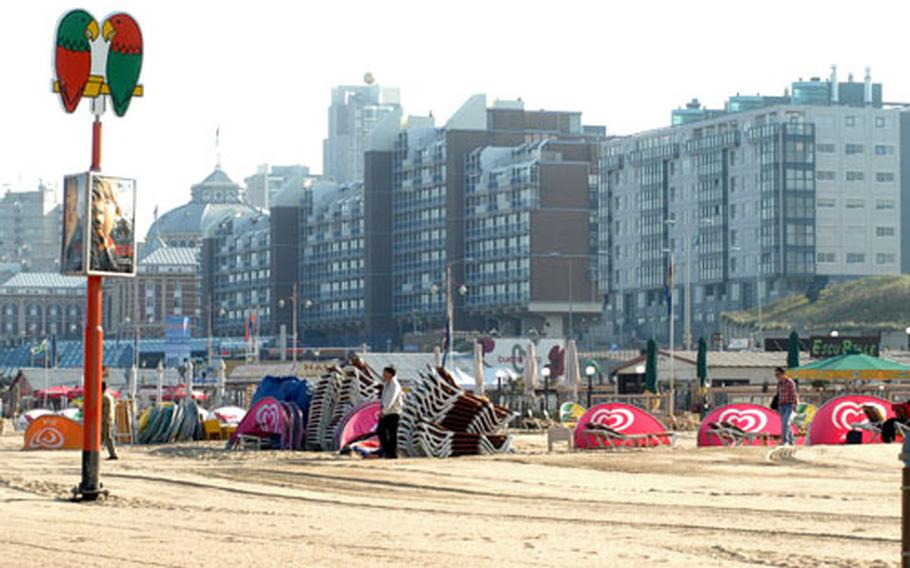 Flashy condos and classy hotels line the main road that runs along the shore.