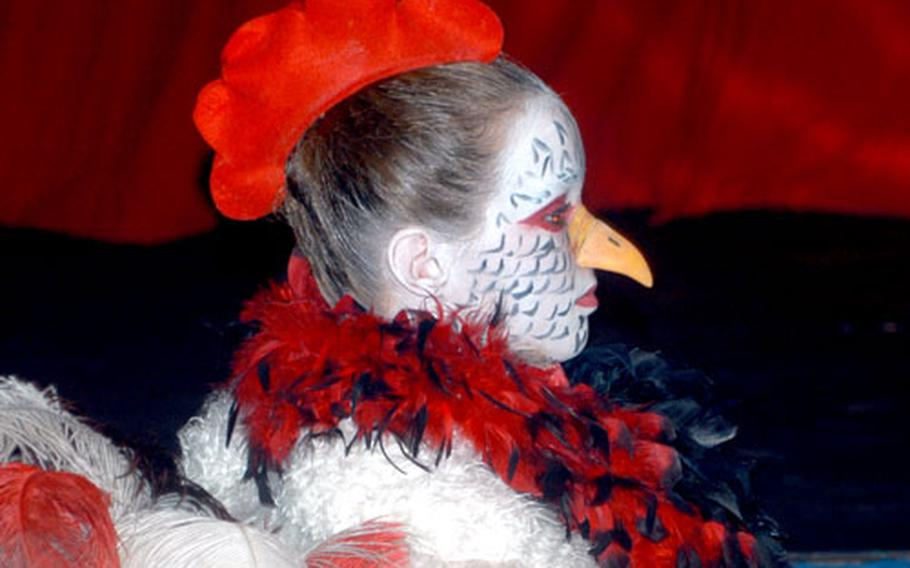 """Elena Fritz drew praise from critics for her portrayal of """"Rooster"""" in the Razz-Ma-Tazz Family Theater's production of """"The Musicians of Bremen."""""""