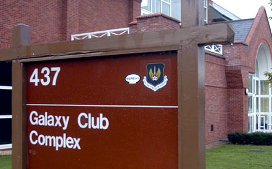 The Galaxy Club at RAF Mildenhall.