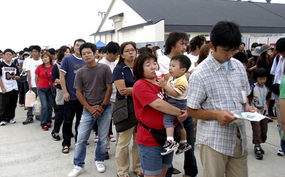 Japanese have a yen for Anthony's Pizza, whose booth attracted long lines at a 2004 Misawa festival.