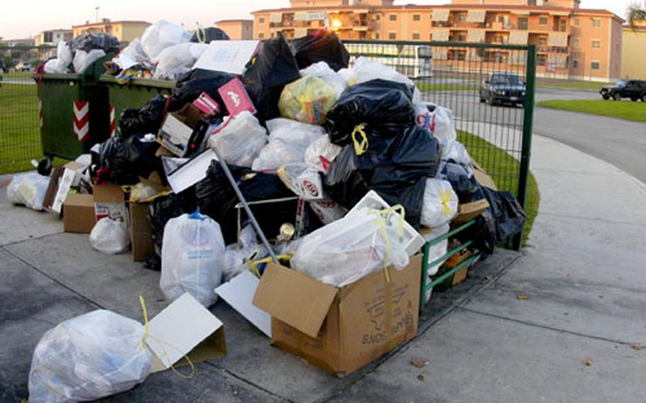The Campania region of Italy, home to the U.S. Navy's support site base at Gricignano, is once again in the midst of a garbage crisis.