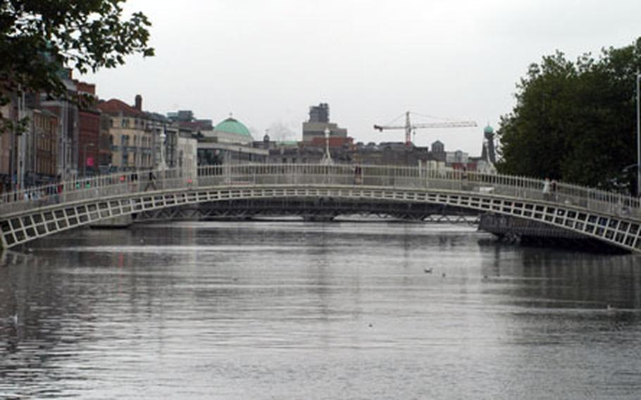 The River Liffey meanders gently through the heart of Dublin.