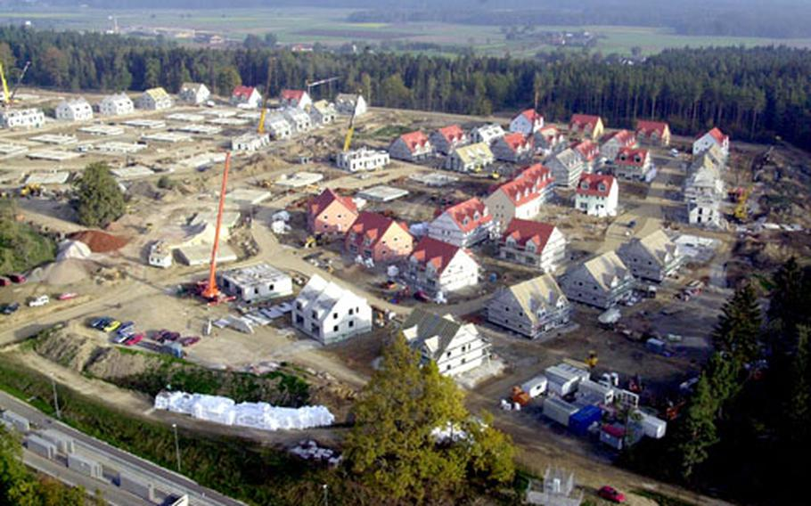 Grafenwöhr's Netazberg housing is expected to take residents in the spring.