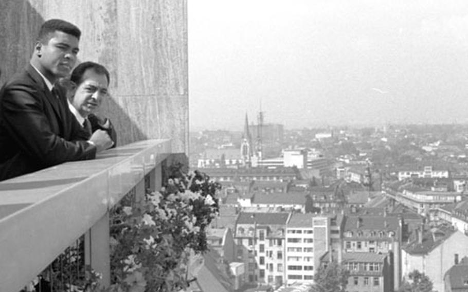 Muhammad Ali at Frankfurt, Germany, in August, 1966.