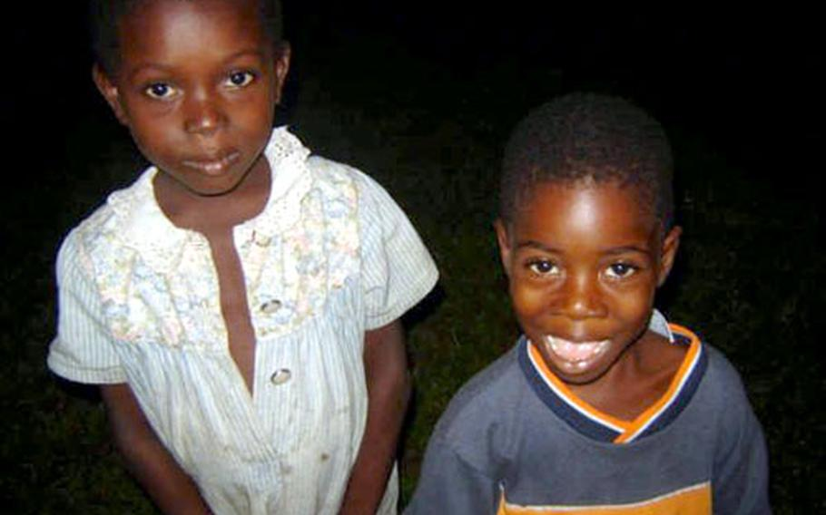 Siblings Anthionette, 8, and Jacob, 5, are two children from Liberia the Bishop family Kaiserslautern are hoping to adopt.