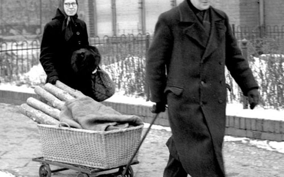 While many people hauled firewood home on their backs, Berlin's more affluent residents had an easier time of it.