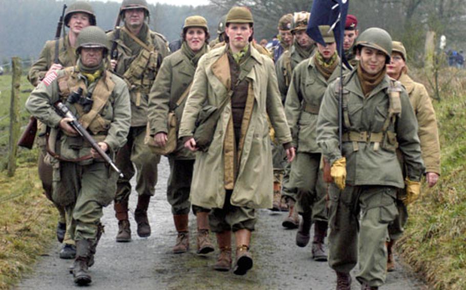 Saturday's Battle of the Bulge walk in Bastogne featured plenty of re-enactors of the famous World War II battle.