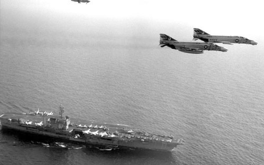 The USS John F. Kennedy in the Mediterranean in June, 1969.