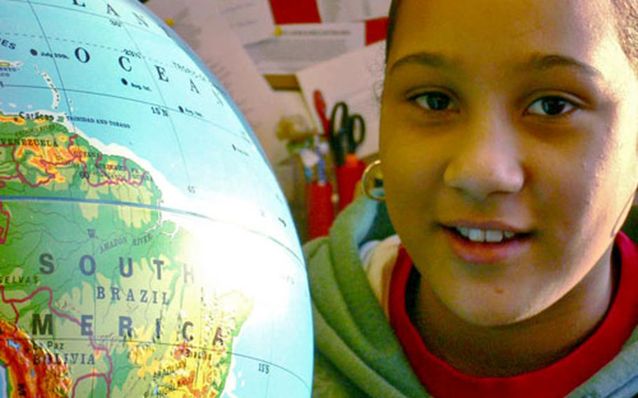 Geography Bee winner Alyssa Harvey, 11, would prefer to spend a month in the Caribbean — or the North Pole.