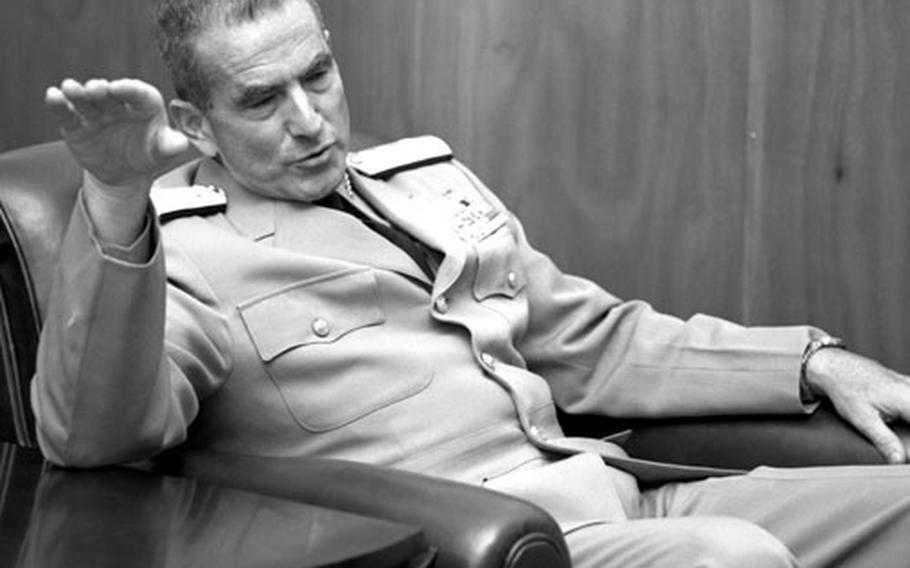 Incoming Chief of Naval Operations Adm. Elmo R. Zumwalt, Jr. visits Stuttgart, Germany, in May, 1970.