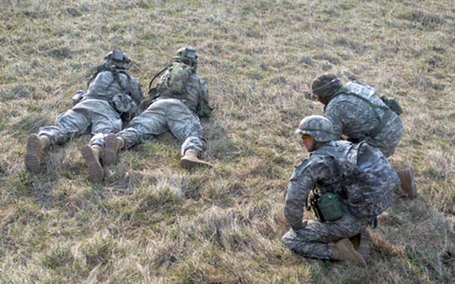 Soldiers from 1st Battalion, 503rd Infantry Regiment air assaulted into The Box training area at Hohenfels on Thursday morning.
