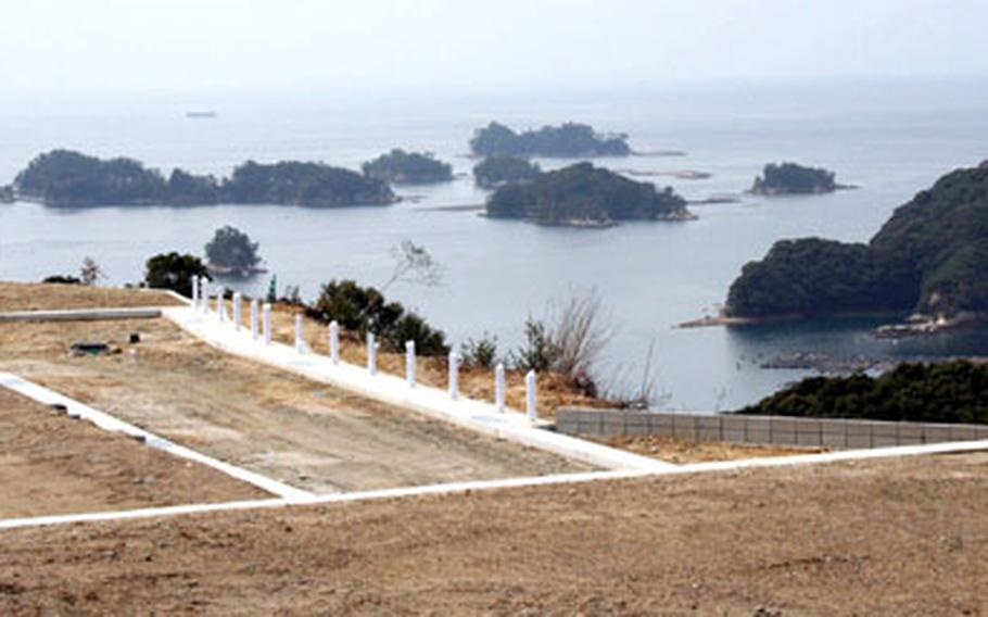 Terry Renick bought land overlooking Sasebo's 99 islands and is building a 2,000-square-foot house on the lot. Renick, a civilian worker at Sasebo Naval Base, Japan, is using his government housing allowance to purchase the bulk of the new home and land.