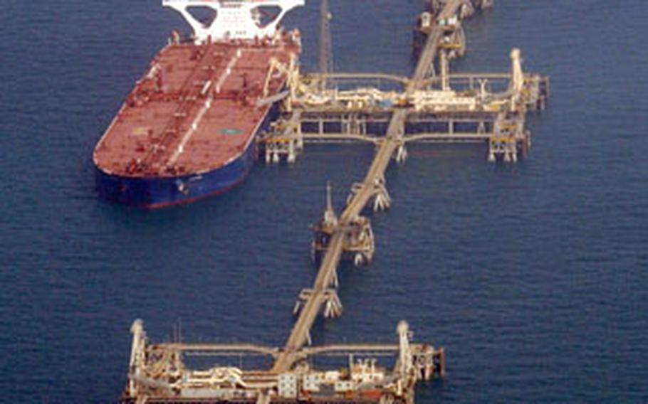 The Basra oil terminal.