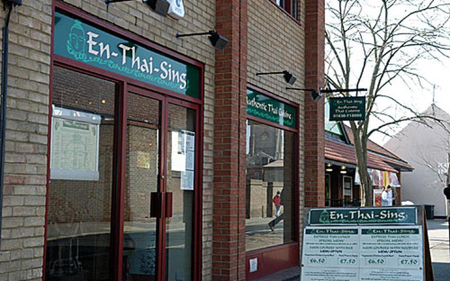 En-Thai-Sing restaurant in Mildenhall, England.