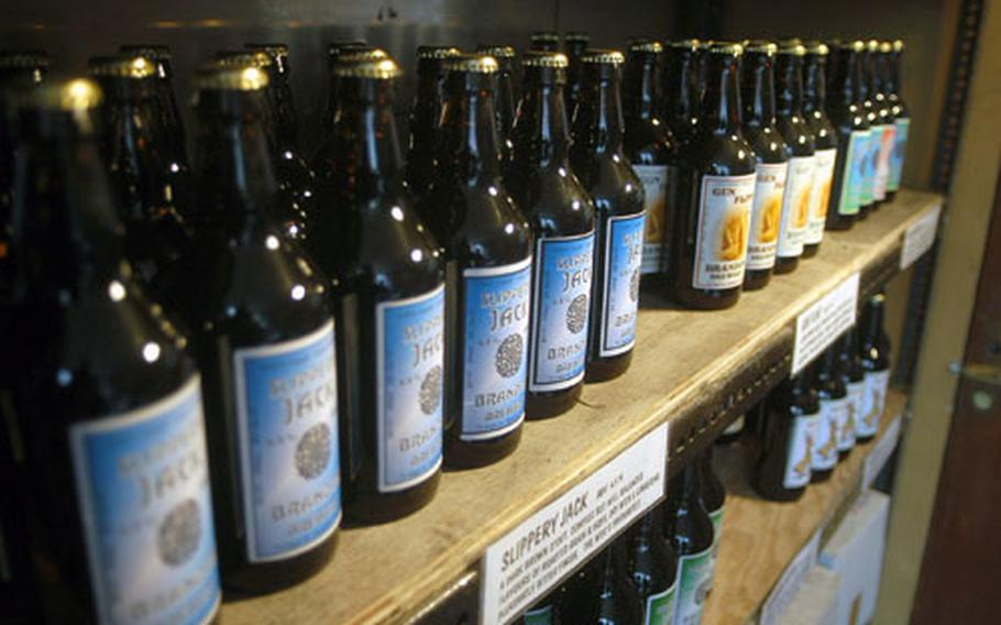 Patrons can purchase a variety of bottled beers from The Brandon Brewery's shop seen here.