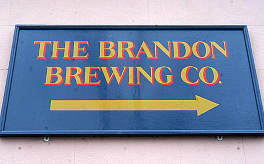 The sign outside of Brandon Brewing Co.