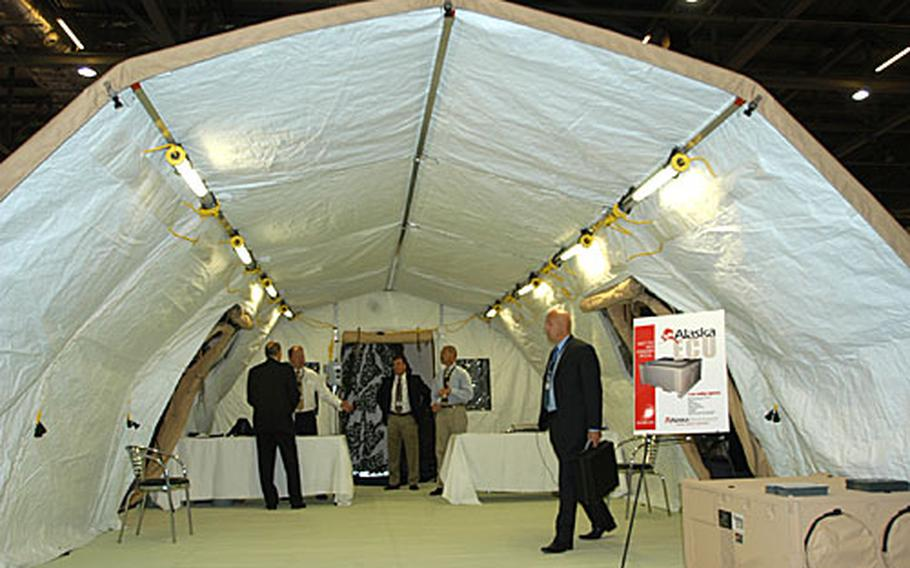 The fair drew approximately 1,000 exhibitors showcasing the latest in land, air and sea military technology to roughly 20,000 visitors by invitation only.