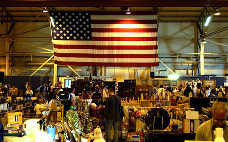 Vendors from across Europe will fill RAF Lakeheath's Hangar Seven over the weekend for the annual holiday bazaar.