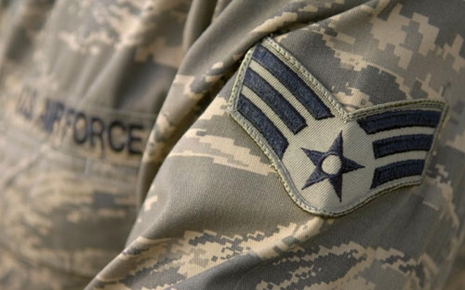 Bruhn said he was excited to get the Air Force's new Airman Battle Uniform, which is designed to be wash and wear.