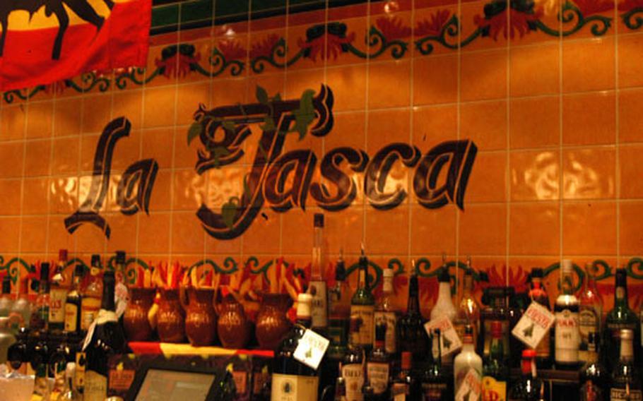La Tasca's bar in Cambridge.