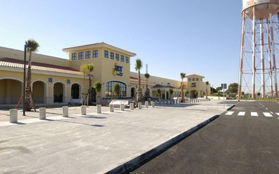 The much-anticipated Navy Exchange and Defense Commissary Agency complex opens Friday at Naval Station Rota, Spain. The 185,000-square-foot, $24.8 million complex includes a commissary shopping area about twice as large as the facility it's replacing, and a consolidated exchange featuring the main store, Sight & Sound, video mart and home center under the same roof.
