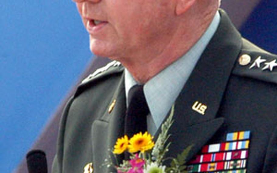 U.S. Forces Korea commander Gen. B.B. Bell speaks at the groundbreaking ceremony.