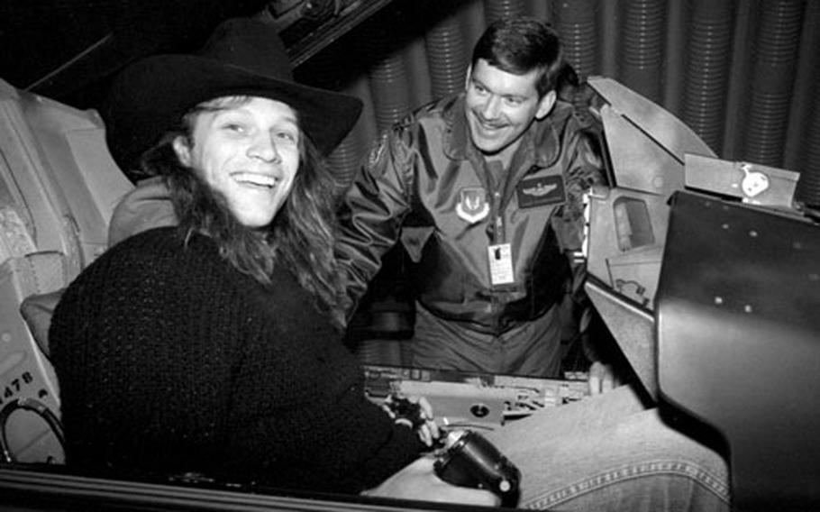 Jon Bon Jovi at Ramstein Air Base in November, 1988.