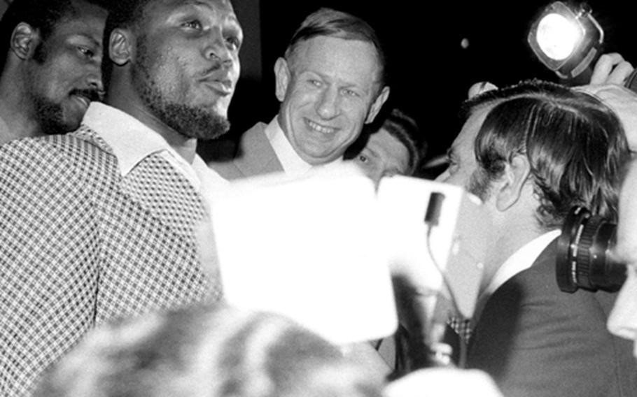 Joe Frazier in Frankfurt in 1971.