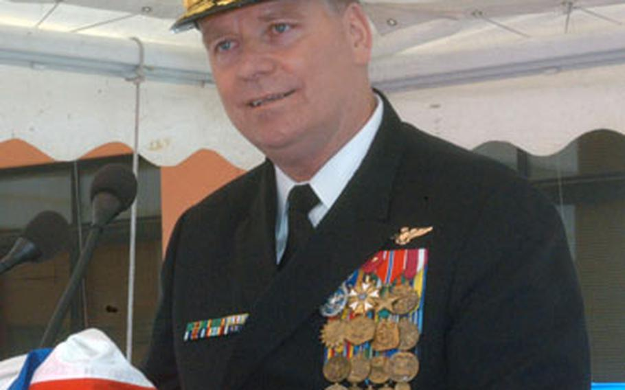 Rear Adm. David J. Mercer talks about the challenges of commanding Navy Region Europe and the NATO component Maritime Air Naples.