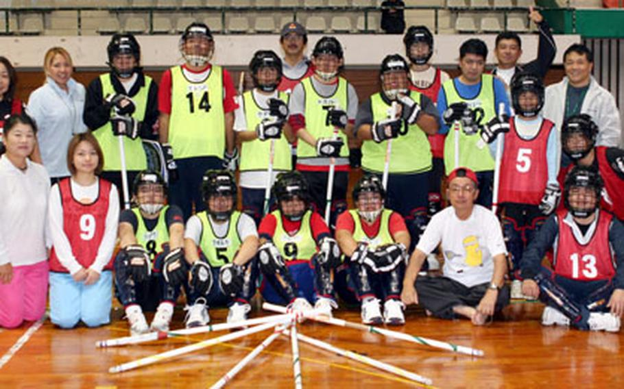 The Okinawa Special Olympics floor hockey team won the gold medal in the Winter National Games in Yamagata, Japan, last month.