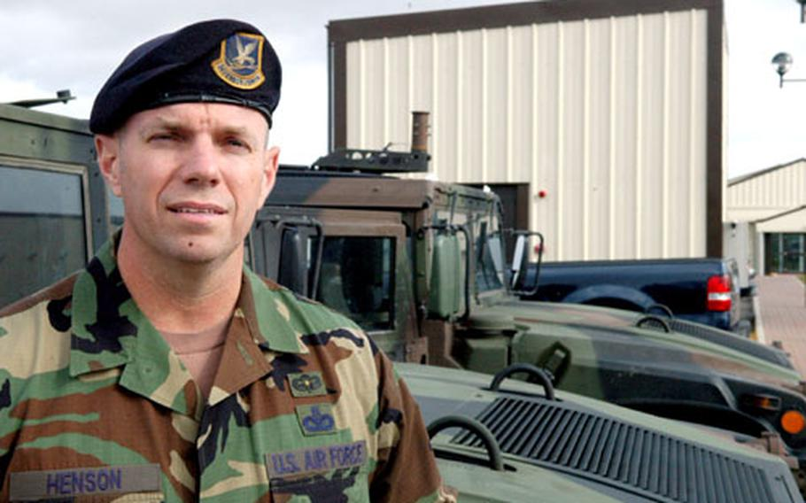 Chief Master Sgt. Robert Henson said his combat jump into Iraq at the beginning of the war is one of hismost vivid memories from his time in the service.