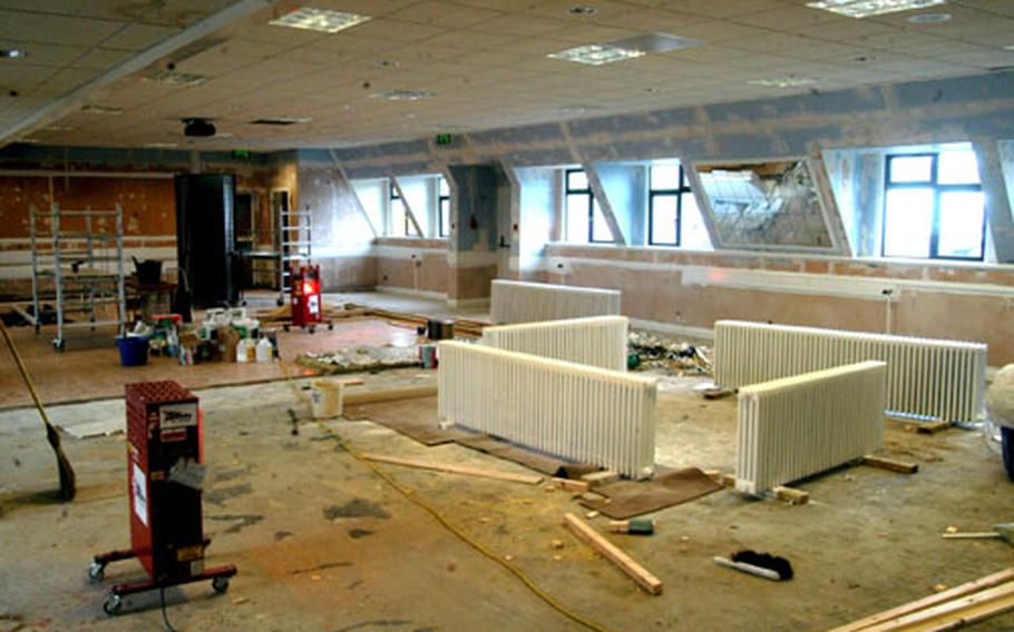 The RAF Fairford, England, community center is undergoing $300,000 in renovations to repair damage done by last year's flooding.