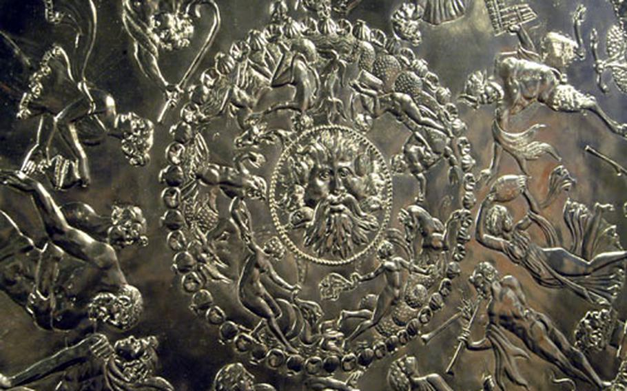 A highlight of the Mildenhall Museum is the silver-plated replica of The Great Dish, a Roman silver dish discovered in a West Row field in 1943.