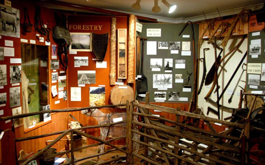 Exhibits include Stone Age and Anglo-Saxon items.