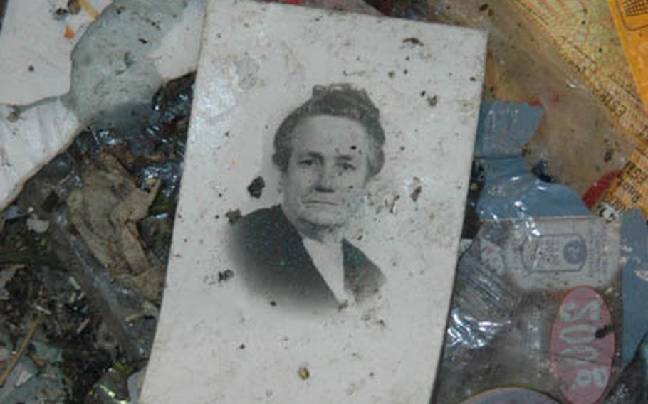Not all the garbage that comes into the Erreplast recycling plant is recyclable. It might not all be garbage, either. This old photograph wound up in the refuse.