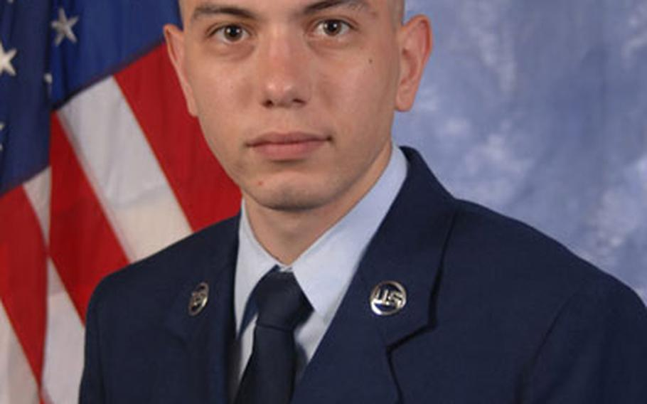Airman 1st Class Shaun Bryant, a fusion analyst with the U.S. European Command's Joint Analysis Center at RAF Molesworth.